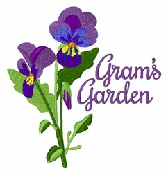 Grams Garden embroidery design
