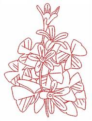 Shamrock Redwork embroidery design