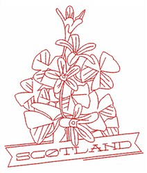 Scotland Shamrocks embroidery design