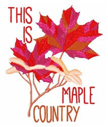 Maple Country embroidery design