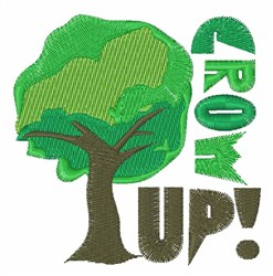 Grow Up embroidery design