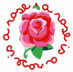 A Rose embroidery design
