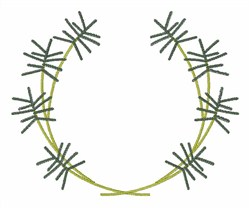 Rosemary Wreath embroidery design
