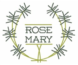 Rosemary embroidery design