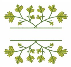 Blank Caption Parsley embroidery design