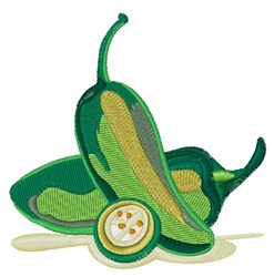 Jalepeno Peppers embroidery design