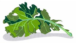 Kale Leaf embroidery design