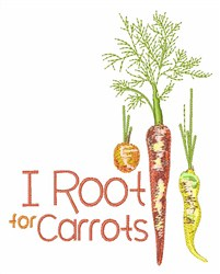 Root for Carrots embroidery design