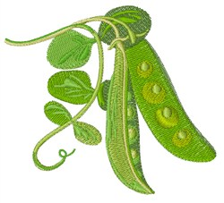 Peas Plant embroidery design
