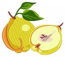 Quince Fruit embroidery design