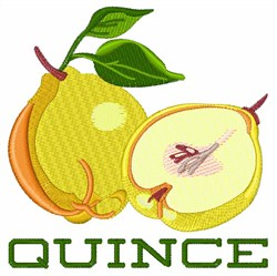 Quince Food embroidery design