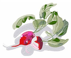 Radish Plant embroidery design
