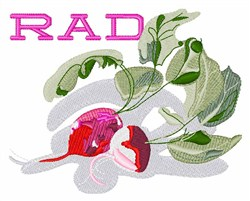 Rad Radishes embroidery design