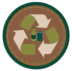 Recycle Circle embroidery design