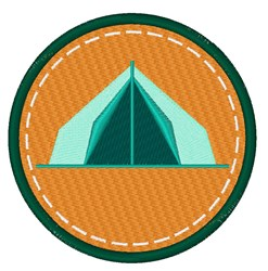Camping Tent Circle embroidery design