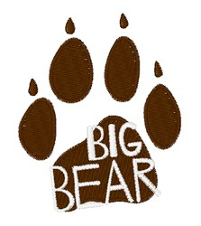 Big Bear embroidery design