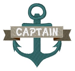 Captain Anchor embroidery design