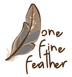 One Fine Feather embroidery design