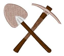 Shovel Axe embroidery design