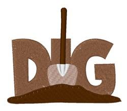 Dig Shovel embroidery design