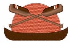 Paddle Canoe embroidery design