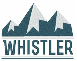 Whistler Canada embroidery design
