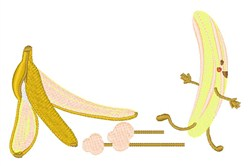 Banana Escape embroidery design