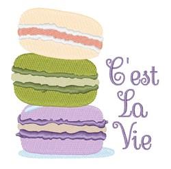Cest La Vie embroidery design