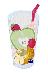 Juice Drink embroidery design