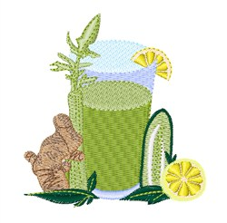 Health Drink embroidery design