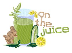 On The Juice embroidery design