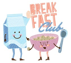 Breakfast Club embroidery design
