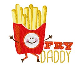 Fry Daddy embroidery design