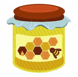 Jar of Honey embroidery design