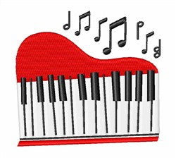 Piano embroidery design