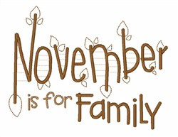 November For Family embroidery design