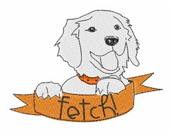 Fetch! embroidery design