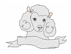 Cute Poodle embroidery design