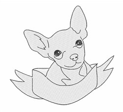 Cute Chihuahua embroidery design
