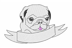 Tiny Pug embroidery design