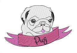 Cute Pug embroidery design