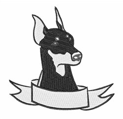Doberman Head embroidery design