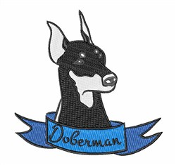 Doberman embroidery design