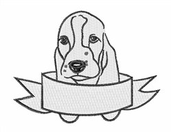 Basset Head embroidery design