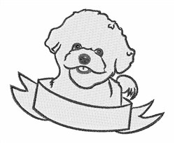 Bichon Frise Head embroidery design