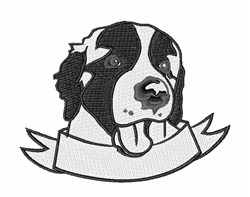 Saint Bernard embroidery design