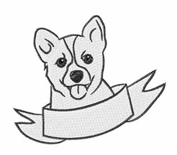 Corgi Head embroidery design