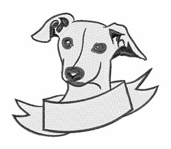 Greyhound Head embroidery design