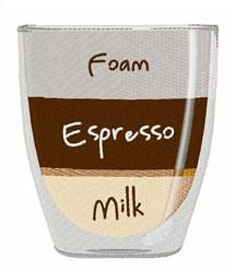 Foam Espresso Milk embroidery design