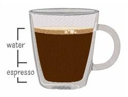 Water Espresso embroidery design